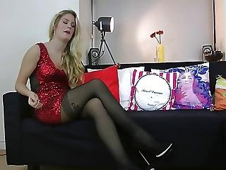 Connie Tries On A Pair Of Fiore Apriel Tights