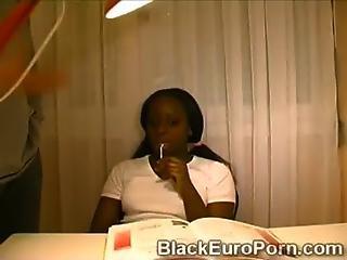 Beautiful Ebony Schoolgirl Rather To Fuck Instead Of Study
