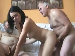 Five Old Man Fuck Girl