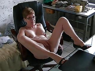 masturbatie, orgasme, gluurder, vrouw