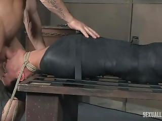 blowjob, bondage, knulling, hals knulling
