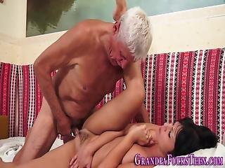 Bikini Teen Blows Old Rod