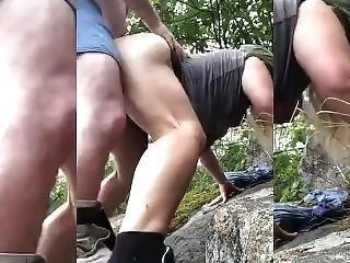 Outdoor Sneaky Hot Sex!