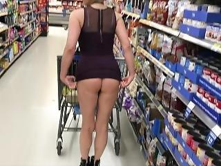 Incredible Milf Ass In Short Skirt In Department Store