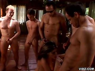 Horny Slut Endures Five Sex Crazed Studs1