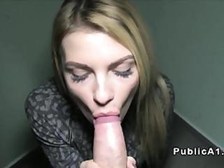 Long Legged Blonde Fucked In Public