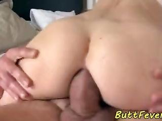 Tattooed Babe Buttfucked In Gaping Asshole