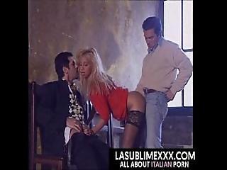 blonde, italienne, trio, vintage