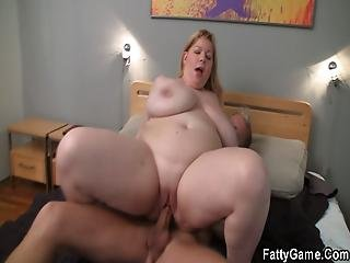 Huge Boobs Chubby Blonde Rides Cock