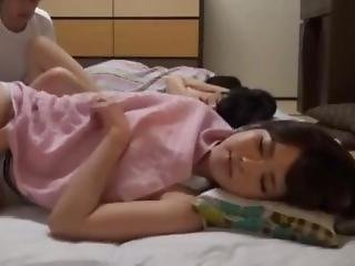 Japanese Sleeping Beauty Fucked By Father In Law
