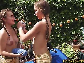 Real Teen Lesbos Kissing