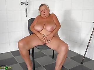 Oldnanny Granny Toys Masturbation Compilation