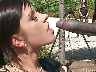 Darksome Soldier Acquires His Large Shlong Eaten By Jessica Rox