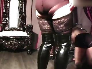 Mistresses Training Human Puppy Dog Slave