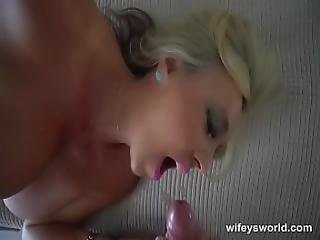 Wifey Caught Masturbating Wants To Finish By Swallowing Cum