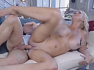 Big Titted Blonde Milf Stepmother Fucked Her Stepson