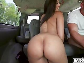 Getting Her Pussy Stretched On The Bus