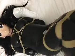 Latex Kigurumi Bondage Vibrating