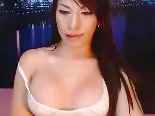 Asian Ts Strokes Her Cock