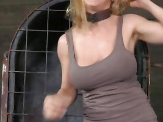Bdsm, Blonde, Bondage, Cage, Chained, Domination, Fetish, Kinky, Object Insertion, Rough, Sex, Submissive