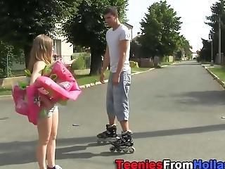 Little Teens Outdoor Jizz