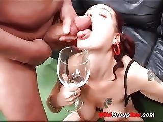 Amateur, Anal, Bukkake, Cum, Drinking, Gangbang, German, Groupsex, Sex, Teen, Teen Anal