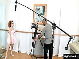 Pretty Latina Ballerina, Sunny, Lets A Burly Black Man Worship  Her Feet