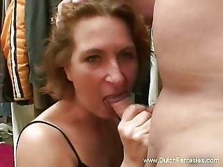 Blowjob, Dutch, Fucking, Mature, Milf, Old, Redhead