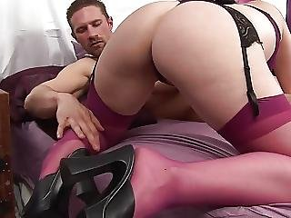 Stunner Babe In Sexy Lingerie Gets Orgasm With Sex Toys