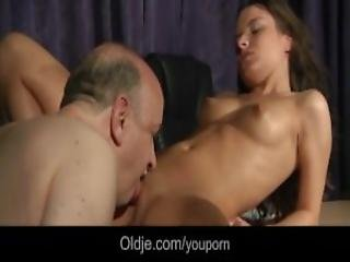 Tight Beautiful Teen Pussy Fucked By Fat Old Step Father