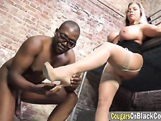 Amber Lynn Getting Blacked In The Prison Cell!