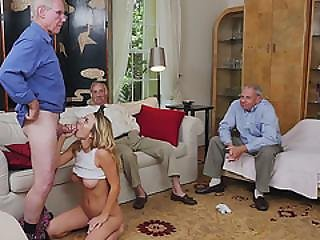 Gorgeous Blonde Teen Molly Mae Sucks Old Mans Cock