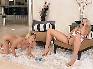 Slutty Luscious Lesbians Brooke Paige And Marsha May Fingerfucking