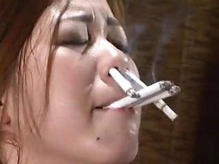 Cigarette Into Nose