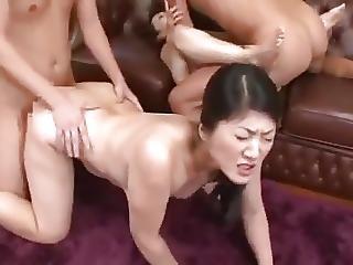gangbang, japonaise, mature, jeune