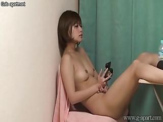 Hidden Cam Under Desk Of Japanese Naked Teen