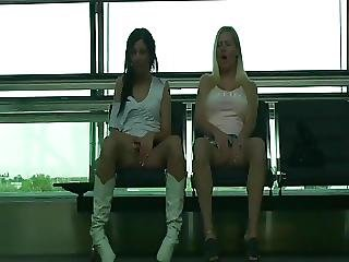 Flashing At The Airport