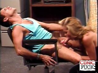 Blonde Cock Sucking Inside The Clinic