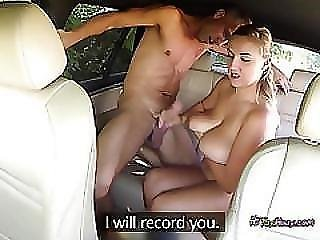 Busty Taxi Driver Crystal Swift Blows Hung Client