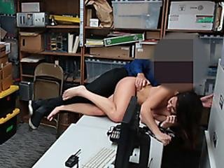 Hardcore Rough Sex Of Officer And The Suspect In The Office