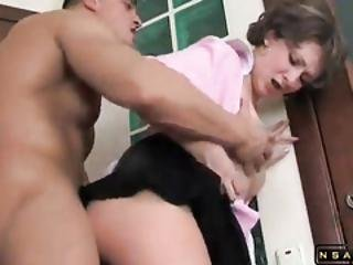 Pantyhosed Milf With A Fabulous Ass Cant Resist A Pecker Video