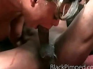 Wow This Ghetto Sex Is Very Mean As The Chick Gets Pounded Hard By A Pimp