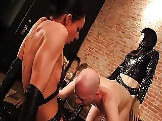 Femdom, Latex, Mistress, Slave, Strapon