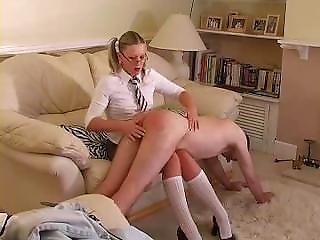 Headgirl Gives Sir A Spanking