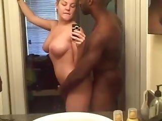 White Chick Big Tits Is Boned By Black Dude And She Films It