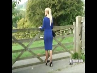 Sexy Blonde Stiletto Girl Larissa Stimulates Your Shoe Fetish Tottering In Gorgeous High Heels