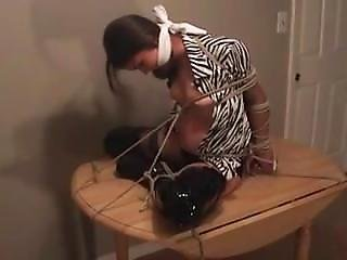 Bondage, Fetish, Table Fuck, Tied