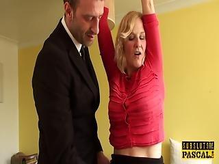Uk Mature Slut Rides Cock With Hands Bound