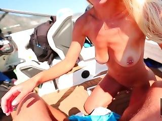 Step Sister Facial After Pro Riding A Big Dick On The Boat