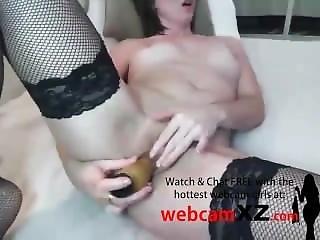素人, 肛門の, おまんこ, 大きなおまんこ, 黒い, 黒ストッキング, うめき声, オーガズム, ストッキング